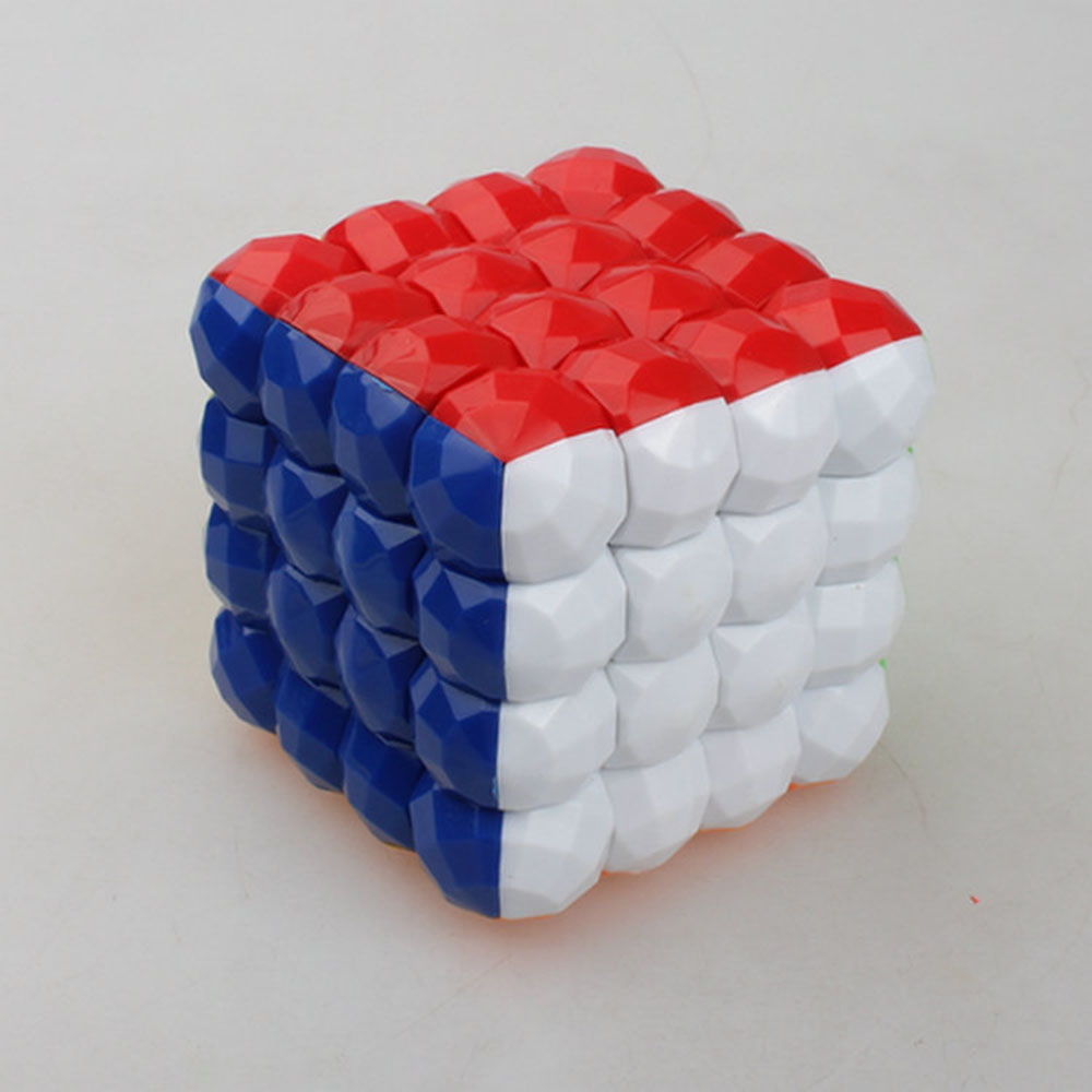 hot sale 70 mm 4 x4x4 without stickers Ball color magic cube puzzle Classic Toys(China (Mainland))