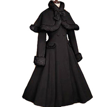 Gothic Lolita Coat adult princess costume medieval lolita coat Long Sleeve with cape party halloween for women plus size custom