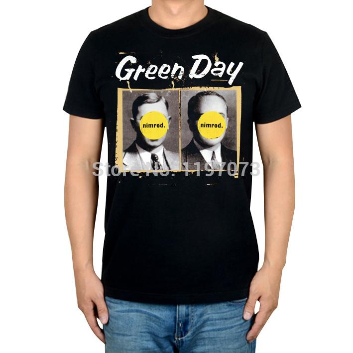 Free shipping Green Day Nimrod album cover men's punk rock Alternative black T-Shirt(China (Mainland))