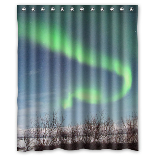 Custom Northern Lights Beautiful Arts Shower Curtain Standard Size 60x72 Inch White U4509651 In