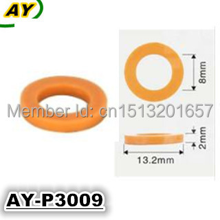 200pieces wholesale auto part plastic washer for fuel injector 0280150558 replacemet (AY-P3009,13.2*2*8mm)