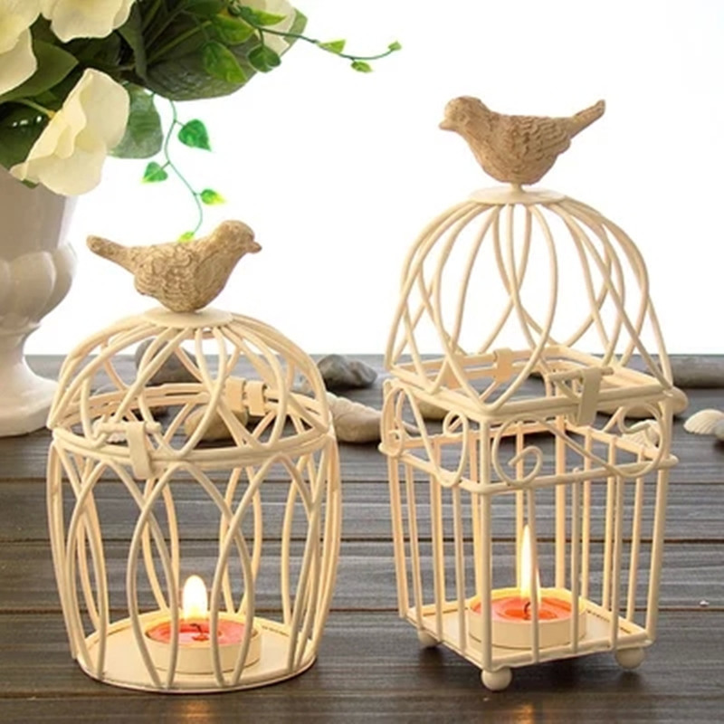 Decorative bird cages weddings candlesticks vintage metal for Bird decorations for home