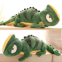 100cm Personalized chameleon dolls green big lizard plush toy doll cloth doll large pillow birthday gift(China (Mainland))