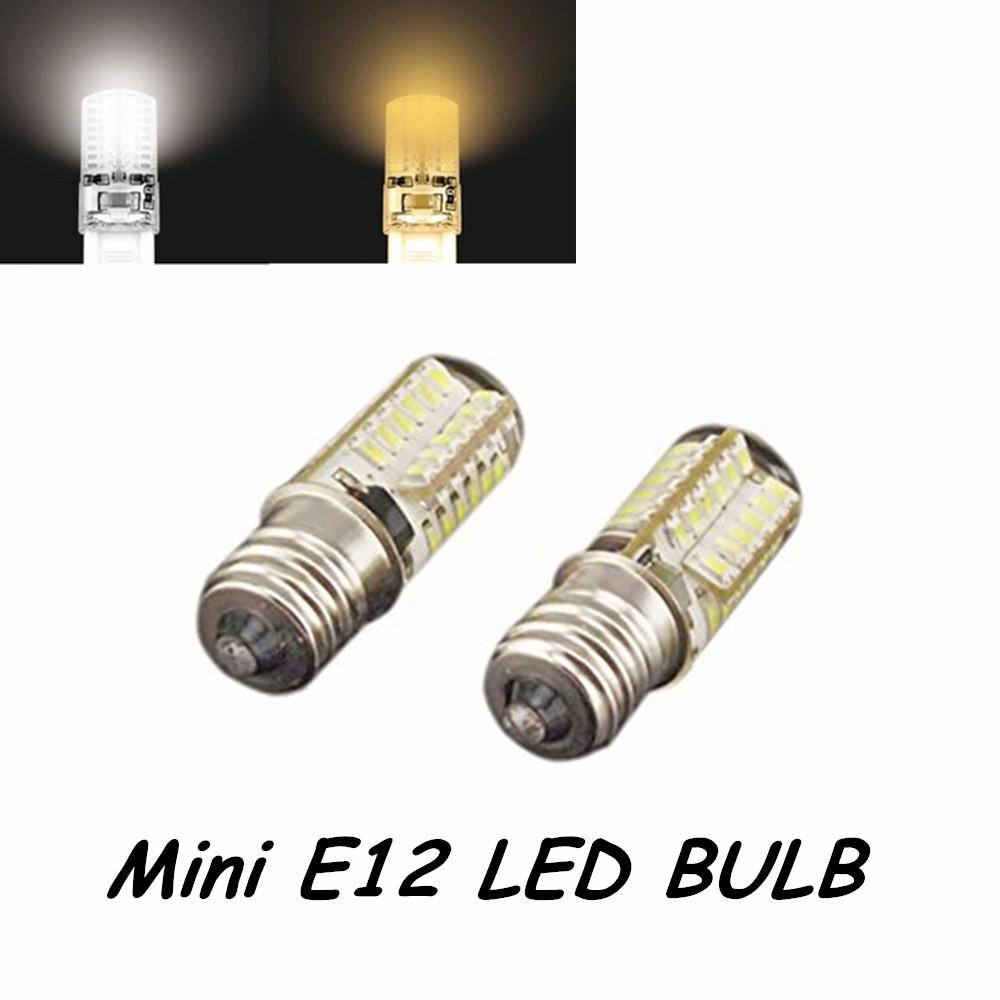 10PCS 3W E12 SMD3014 LED Corn Light Bulb Candelabra Lamp Warm White Cold White Bulb Lamp(China (Mainland))