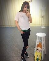 Женская футболка Tops & Tees 2015 Harajuku topstees LQ8750D