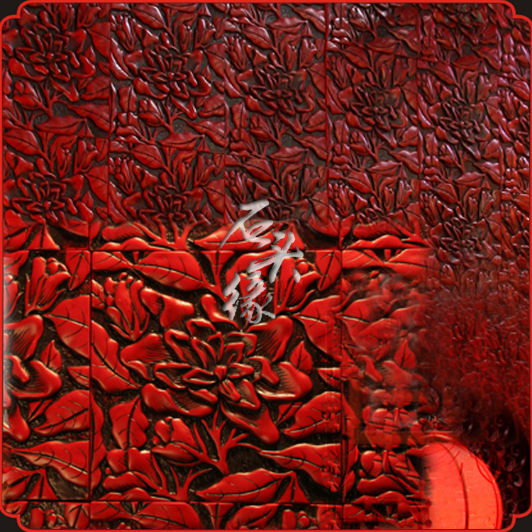 edge culture stone stone tile art backdrop Chinese decoration red resin -dimensional wall hangings - flowers rhyme(China (Mainland))