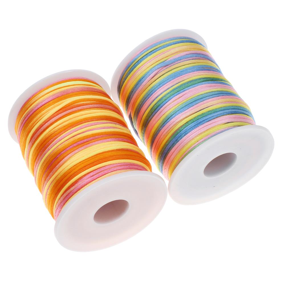 100Yard/Spool 2mm Nylon Cord Thread Chinese Knot Macrame Cord Bracelet Braided String DIY Tassels Beads String Thread(China (Mainland))