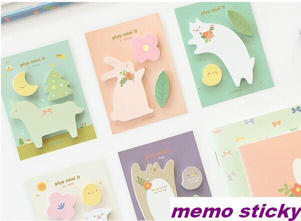 12pack/Lot Post it notes Animal Paradise Sticky note Memo pad stickers Notepad kawaii stationery office School supplies(China (Mainland))