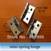 20pcs 26*31mm small spring hinge furniture mini hinges for wooden box(China (Mainland))