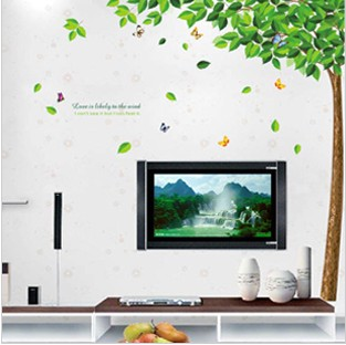 Three generations of wall stickers tv background wall entranceway sticker