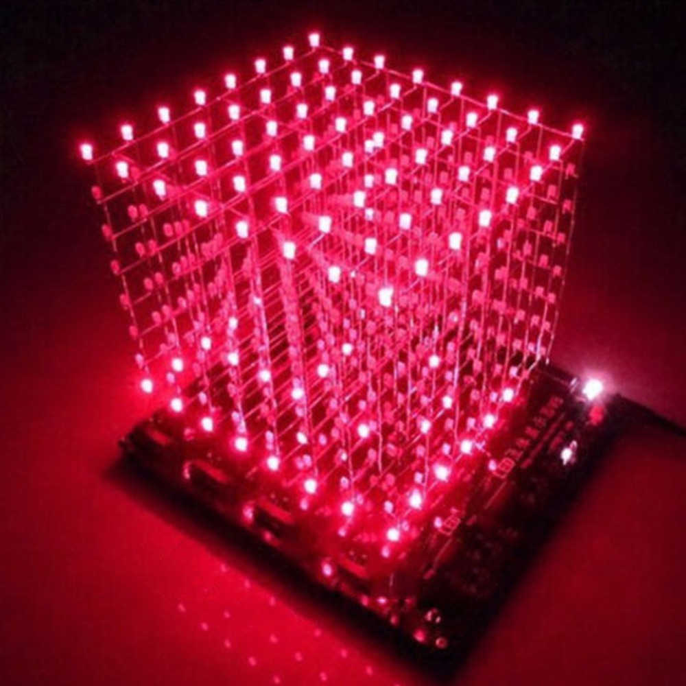 Гаджет  Free shipping 3D8 light cube (parts) pcb board +60 s2 +573 +2803 / CUBE8 8x8x8 3D LED + information and source(3D8S) 3d led cube None Электронные компоненты и материалы