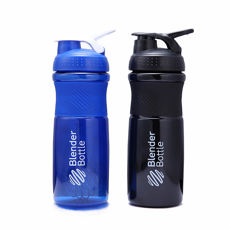 Quality protein shaker cup Sportmixer Sports water bottle with wire whisk 760ml/26oz(China (Mainland))