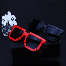 Vintage Women's Men's Pixel Sun Glasses Deal with it Glasses Female Male Square Goggles Mosaic Thug life Glasses Maynkraft Trend