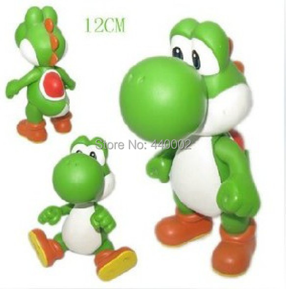 "Super Mario Bros figures Plush Doll yoshi green pvc toy figures 5"" inch Wholesale(China (Mainland))"