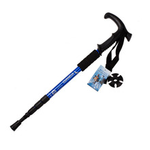 Walking stick Hiking Walking Trekking Trail Poles Ultralight 4-section Adjustable Canes H1E1(China (Mainland))