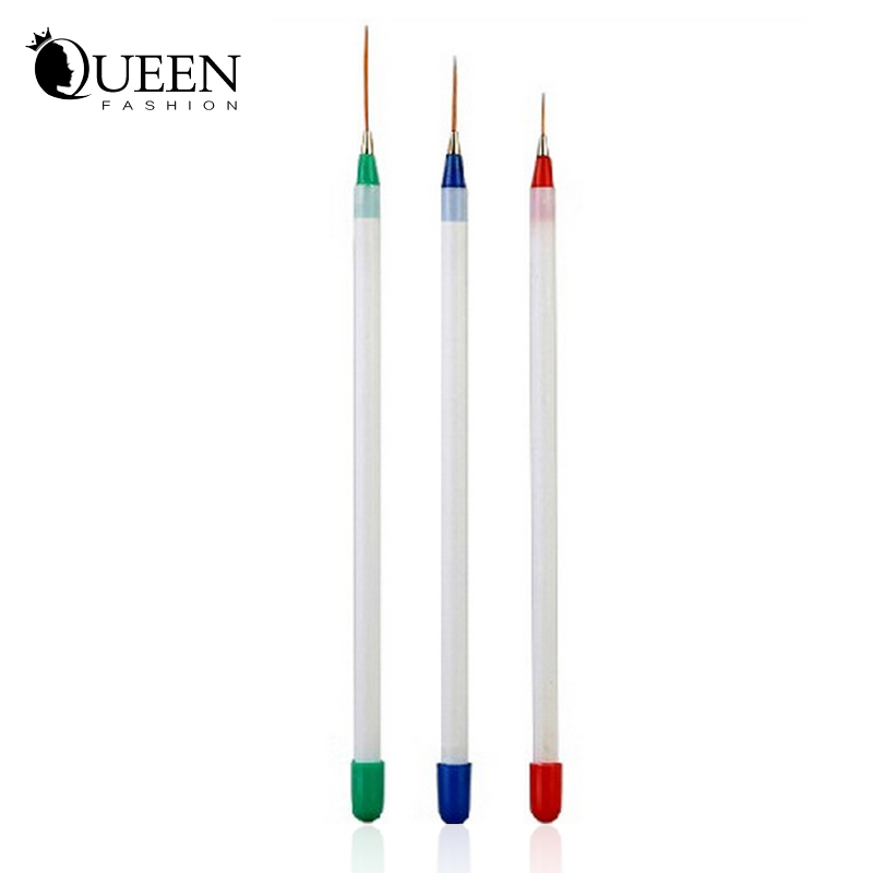 3pcs/set Nail Polish Art Brushes Pen ,Nail Stylish Acrylic Gel Tips Design Liner Painting Drawing Pen,Manicure Tools - Fashion Queen Accessory Co. , Ltd store