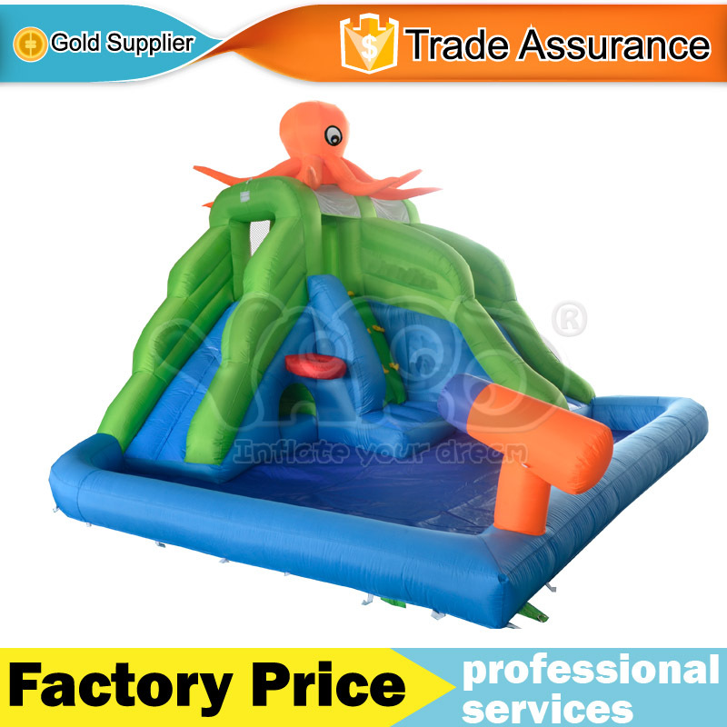 YARD Free Shipping New Arrival Pop Octopus Inflatable Water Slide For Kids Outdoor Hot selling(China (Mainland))