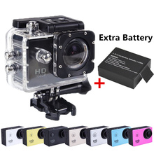 Go pro style Digital Camera Underwater 30M Waterproof Extreme Action Sport Camera Diving DV DVR 1080P HD Two Battery(China (Mainland))