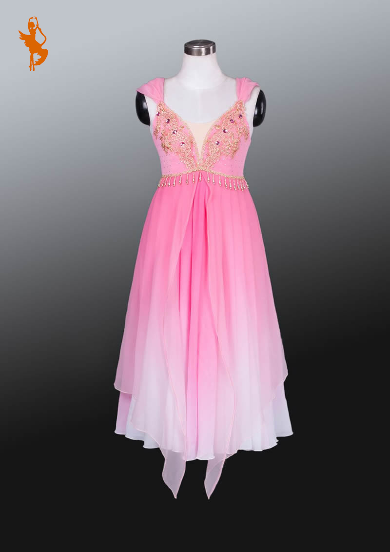 Pink Ballet Dress Costume BT875 Girl Ballet Tutu Dress Chiffon Romantic Ballet Tutu Pink Performance Dress Lyrical Dress costume(China (Mainland))