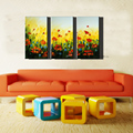 3 piece canvas art sets artist 100 handmade oil painting on canvas modern red flower