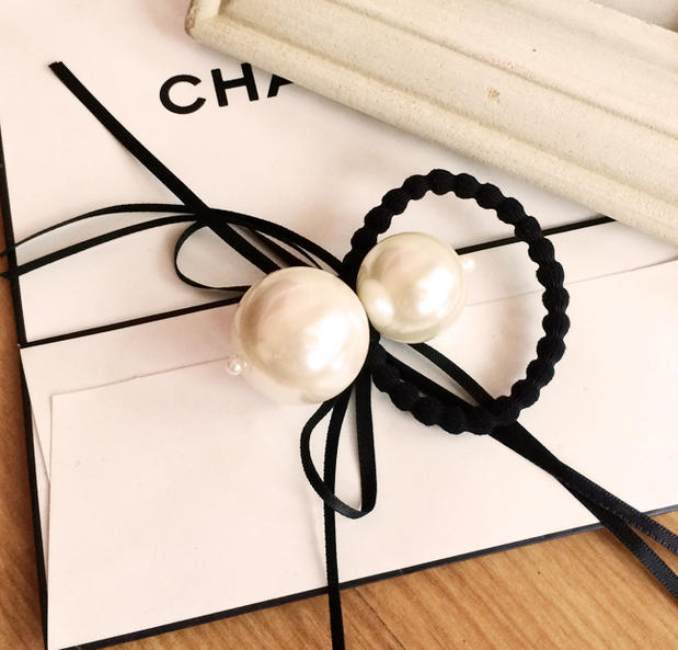 NO.073 1piece/lot fashion sweet Star style big pearls hair ring rope Elastic Hair Bands - Jingle shops store