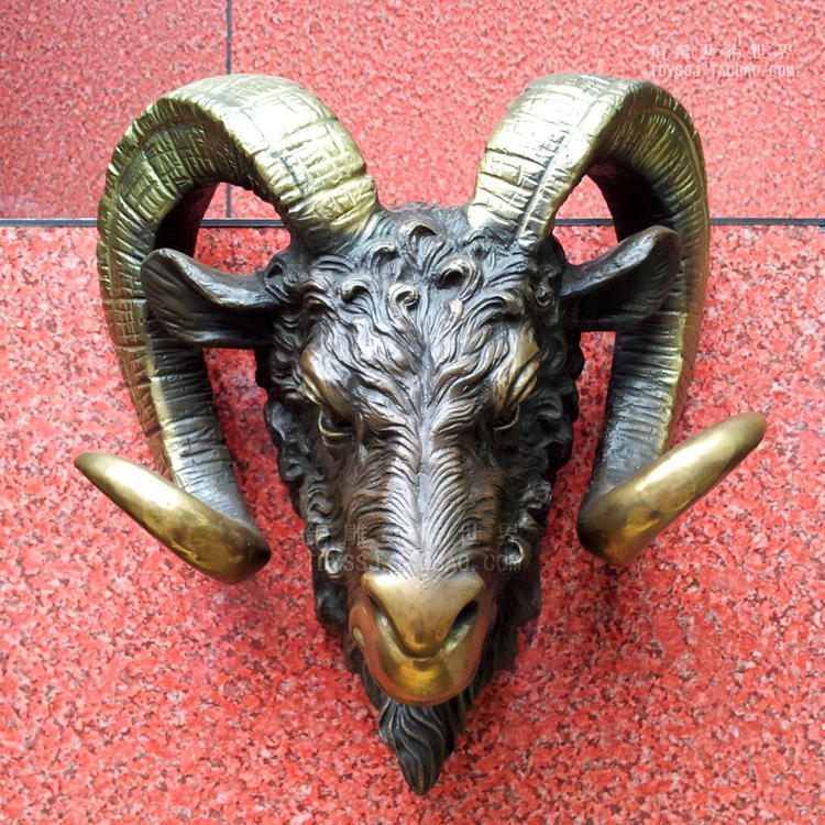 Jemmied sculpture goat copper sculpture crafts home decoration business gift wall decoration wall hangings
