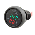 Car 3 in 1 Multifunction Car USB Charger Thermometer Voltage Digital Meter Monitor 2 1A USB
