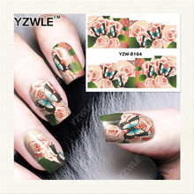 YZWLE 1 Sheet DIY Decals Nails Art Water Transfer Printing Stickers Accessories For Manicure Salon   YZW-8164
