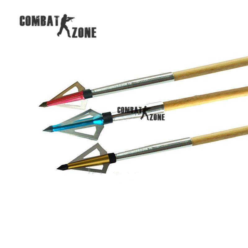 12pcs lot archery arrow arrowhead 100 grain fiberglass arrow broadhead 3 blades screwing on carbon arrow