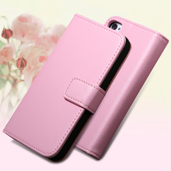 5s Flip Leather Case Genuine Leather Cover For Iphone SE 5 5S 5G Full Wallet Stand Cover With Card Slot Leather Cell Phone Case(China (Mainland))