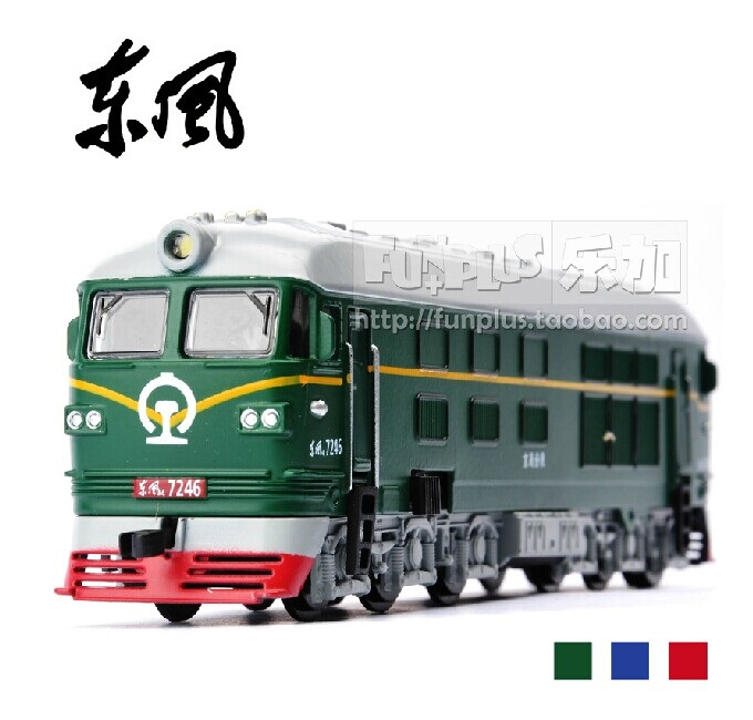 High Simulation Exquisite Model Toys: Car Styling Nostalgic Dongfeng 4B Green Locomotive 1:87 Alloy Trains Model Excellent Gifts(China (Mainland))