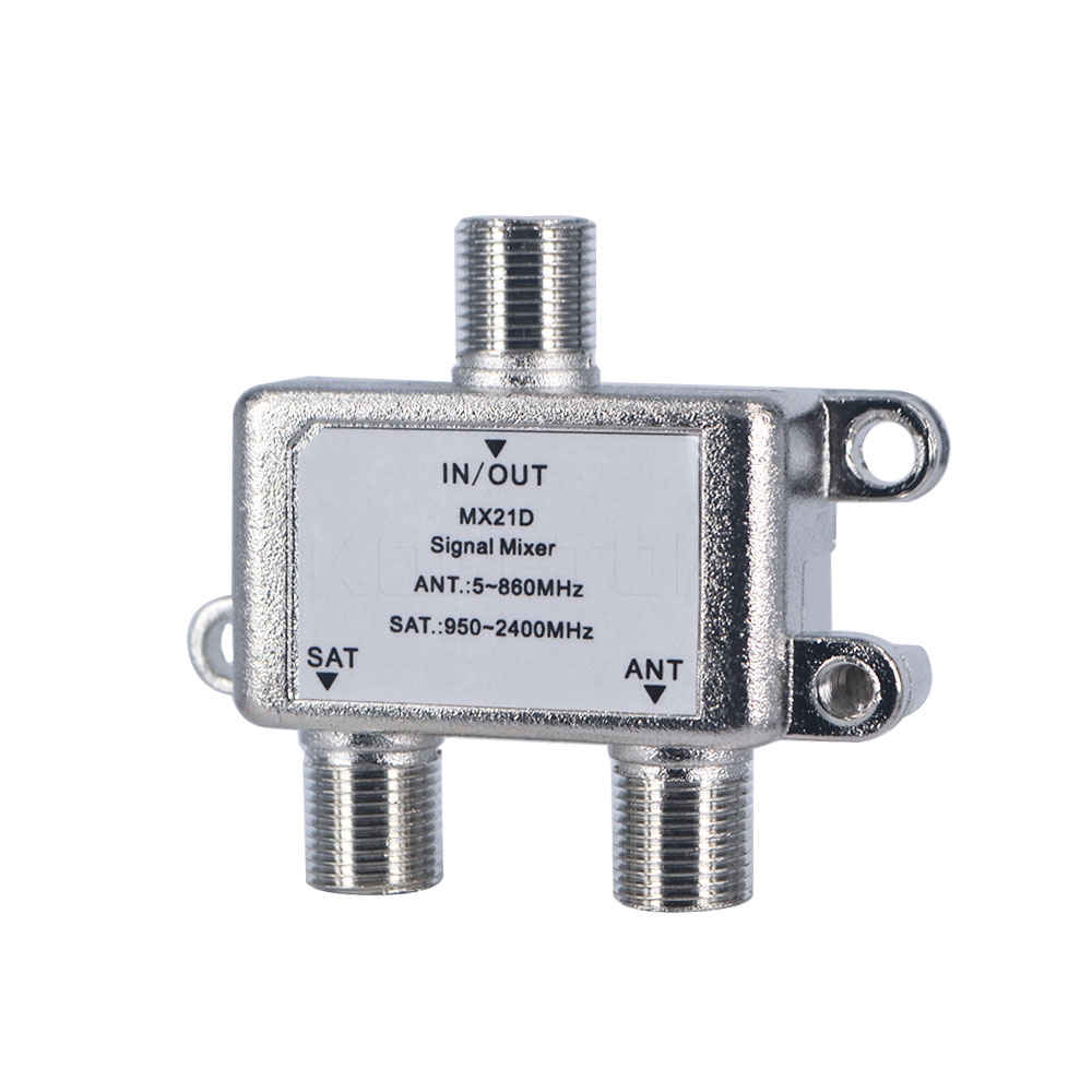 10pcs 1 In 2 Out Dual-use 2 Way Port TV Signal Satellite Splitter Sat Coaxial Diplexer Combiner Combiners Cable Switch Switcher(China (Mainland))