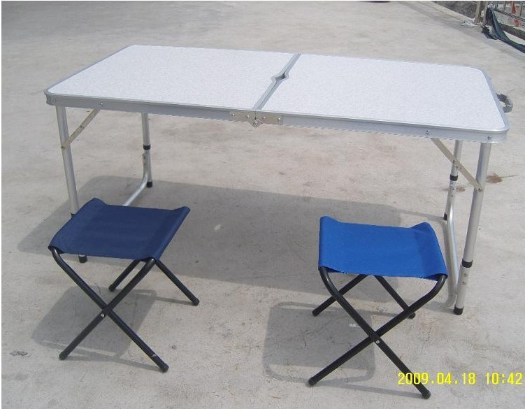 Reinforcing thickened suitcase picnic tables aluminum table recliner chair folding chair folding table free(China (Mainland))