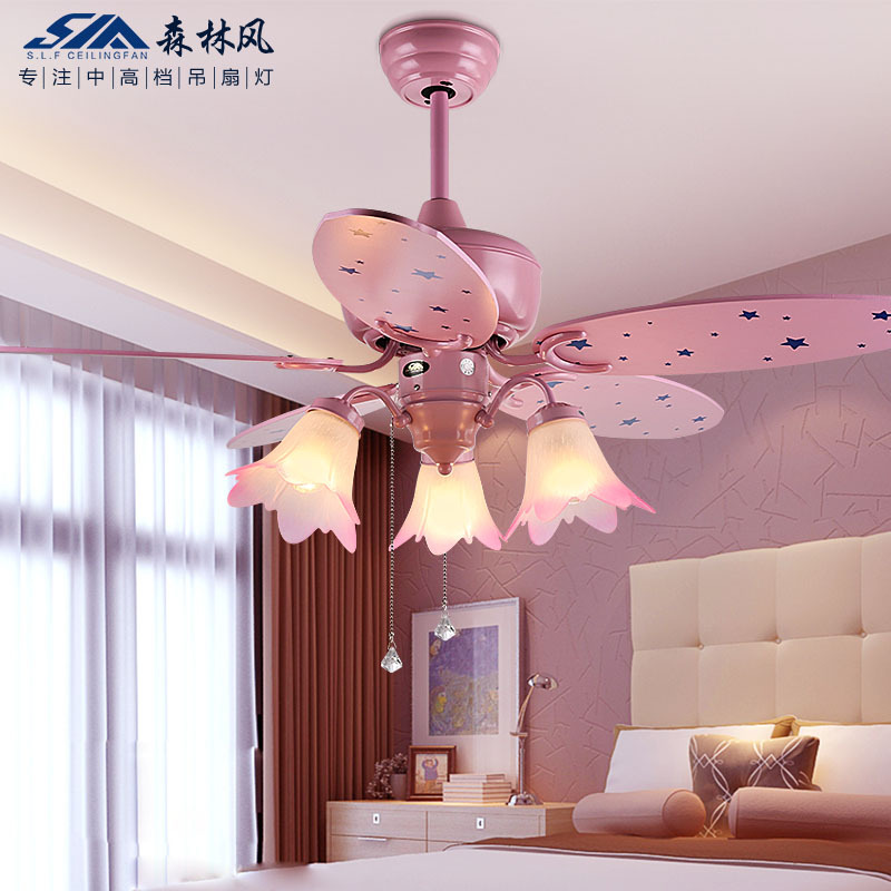 fan lights ceiling fan light pink child girl cartoon fan light ceiling ...