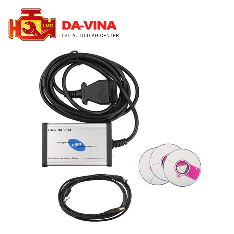 Professional DA-VINA 2534 for Jaguar/LandRover diagnostoc tool Approved SAE J2534 Pass-Thru Interface 2534 DHL Free Shipping(China (Mainland))