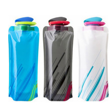 Lowest Price 700mL Foldable Reusable Sport Water Bottle Bag Bicycle Camping Outdoor Travel Easy Carry Eco-Friendly Tool TD0062(China (Mainland))