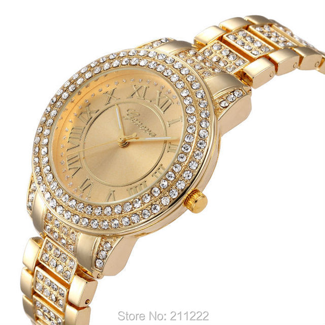 Valentine's Gifts Luxury Design Elegant Women's Watch Fashion Ladies Dress Bling Watch Crystal Diamond Hours relogios masculinos