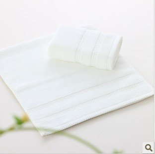 Free shipping!wholesale 36*78cm 150g 5pcs/lot hotel pure white untwisted yarn soft  towel/ face towel /face cloths/washer towel