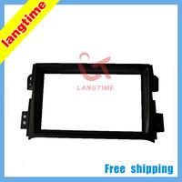 Free shipping-car refitting dvd frame front bezel audio panel fascia for 08-UP SUZUKI SPLASH,2 DIN