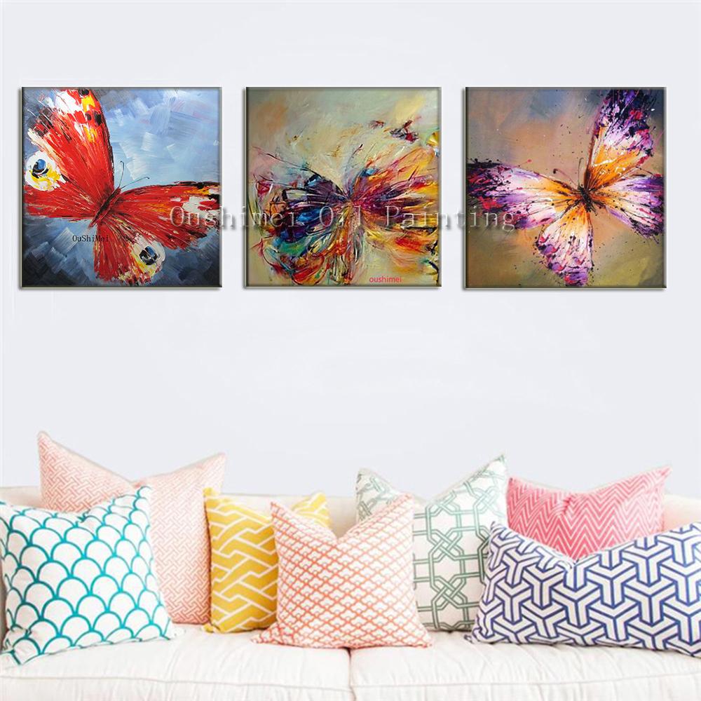 handgefertigt modernen abstrakten dekorativen schmetterling bild Ölbild auf leinwand wand kunst ...
