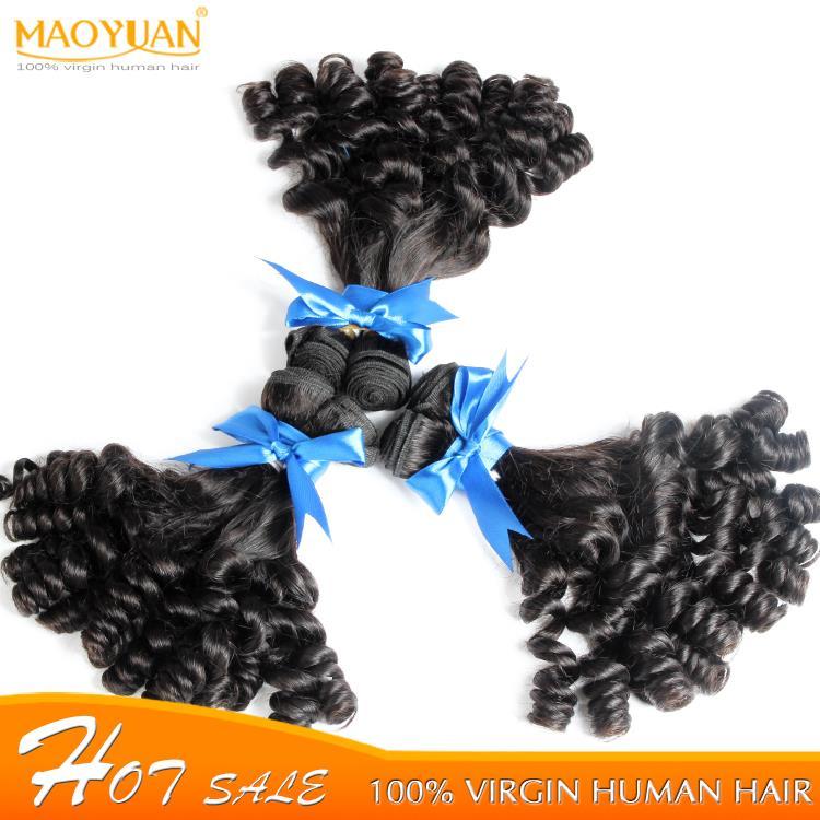 Bouncy Curly 3 PCS Lots Unprocessed Human Hair Extensions Virgin Spiral Curls 3 Bundles 7a grade Nigeria Aunty Funmi Hair<br><br>Aliexpress