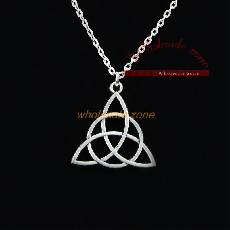 WYJ0003 Charmed Tv series antique silver pendant necklace,Hot fashion jewelry for friend(China (Mainland))