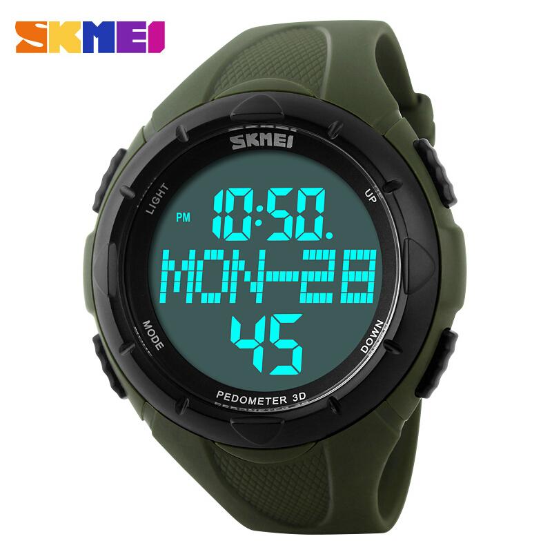 SKMEI Luxury Brand Men Sports Watches Digital LED Quartz Wristwatches Pedometer 3D Calories Military Watch relogio masculino<br><br>Aliexpress