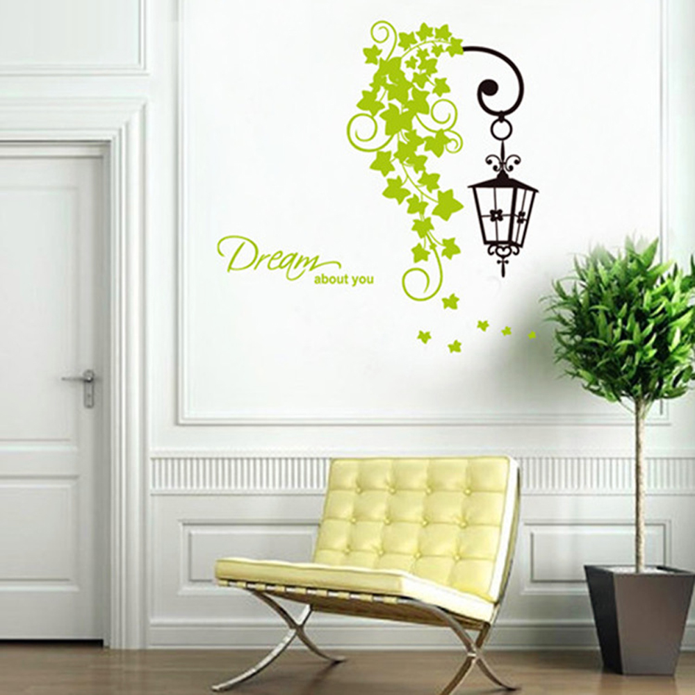 Street Light Flower Vine Wall Decals, Children's Room ...