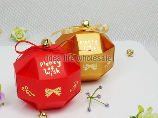 100pcs/lot 7*7cm wedding candy box small weddding gift box