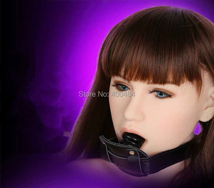 Гаджет  Bondage Gear Mouth Bite Penis Gag Female Slave Trainer Ball Gags Black Short Version Adult Sex Toys Products For Lady None Красота и здоровье