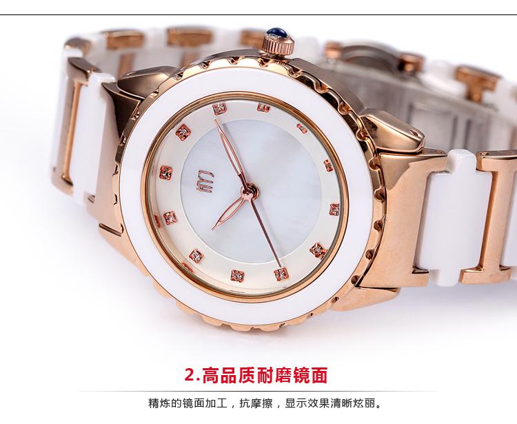 ТОП Luxury Brand смотреть Леди Кристалл керамические часы женщины горный хрусталь платье наручные часы Высокое качество кварцевые наручные часы h205