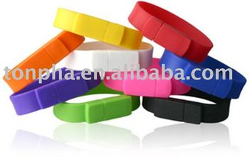 FREE SHIPPING, Guaranteed full capacity and high speed 128MB sillcon usb wristband wholesale and retail