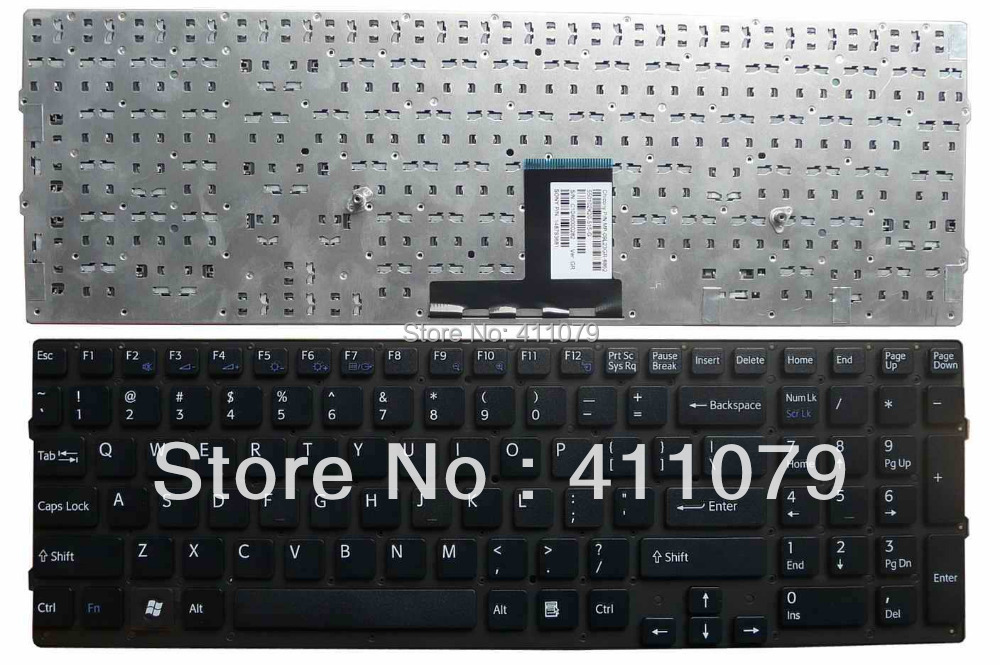 NEW For Sony For VAIO VPC-EC VPC EC Series US Layout Black Keyboard Accessories Replacement Laptop(K1952)(China (Mainland))