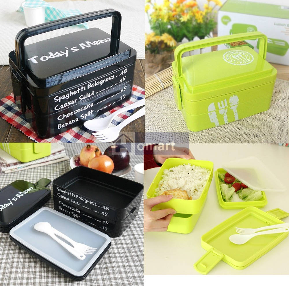 big 3 layers japanese bento lunch box food container w handle lunchbox w a set. Black Bedroom Furniture Sets. Home Design Ideas